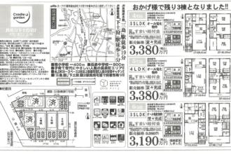 長泉町下土狩第7 4,5,6号棟 新築分譲住宅(4,6号棟成約済み)